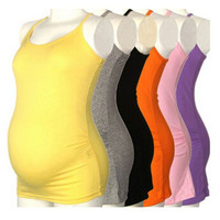 Women Strappy Casual Yoga Maternity Tank Top