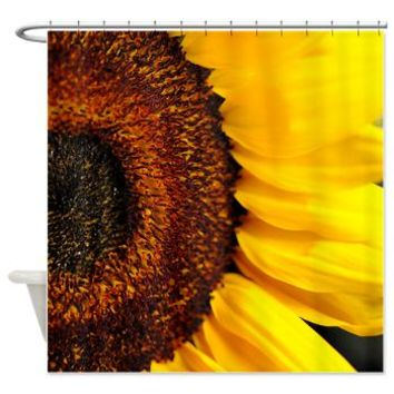 Sunflower's Heart Shower Curtain> Shower Curtains> Bloomingvinedesign's Cafe Press Shop