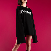 Rock 'n' Roll Oversized Pullover