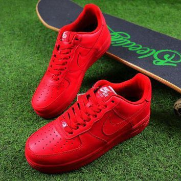 Nike Air Force 1 Low All Red Men Women Sport Shoes Sneaker - Beauty Ticks