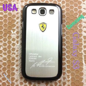 Ferrari Samsung Galaxy S3 Case Ferrari Series Sport Car Premium Hard Cover for S3 / i9300 - Silver