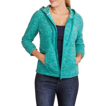 Danskin Now Women's Microfleece Mock Neck Hooded Jacket - Walmart.com