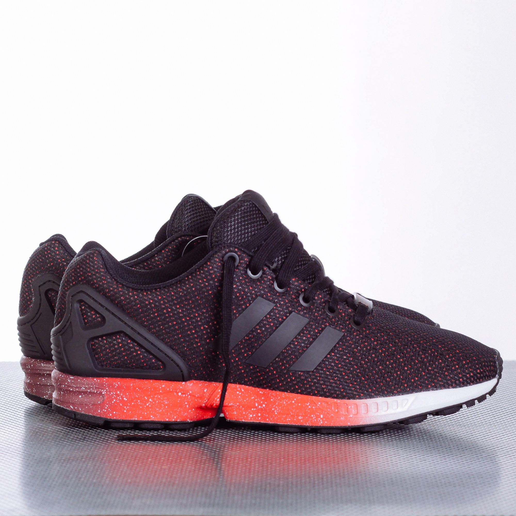 adidas zx flux red and black