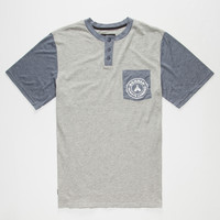 Bohnam Owens Mens Henley Pocket Tee Heather  In Sizes