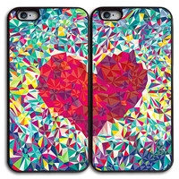 Diamond Heart Best Friends Matches Case for iPhone and Samsung Series,Two Differrent Phone Models Mixed OK