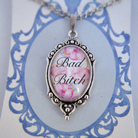 Bad B#!ch floral necklace