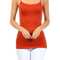 Orange Spagetti Strap Seamless Cami Tank Top