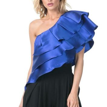 Triple Layer Ruffle Crop Top