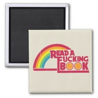 Rude Rainbow Magnet 2 Inch Square Magnet