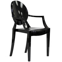 Louie Arm Chair | Black