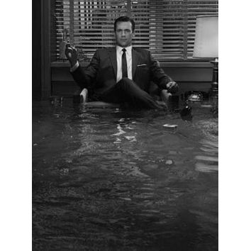 Mad Men poster Metal Sign Wall Art 8in x 12in Black and White