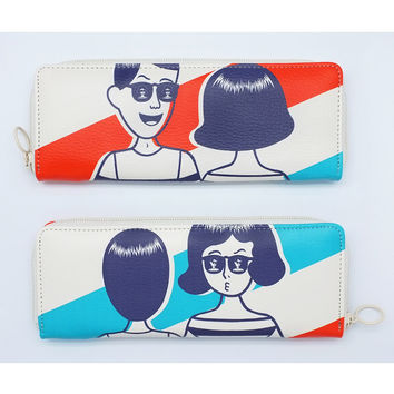 Oohlala Tabom sunglass zip around pencil pouch