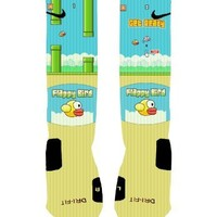 Flappy Bird Custom Nike Elite Socks (Large-8-12)