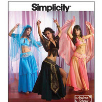 BELLY DANCER COSTUME Sexy Womens Costumes Designer Andrea Schewe Size 14-20 Bust 36 38 40 42 Simplicity 2941 UNCuT Plus Size Sewing Patterns