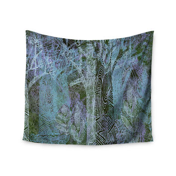 "Marianna Tankelevich ""Wild Forest"" Blue Trees Wall Tapestry"