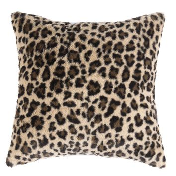 Jill Faux Fur Leopard Accent Pillow