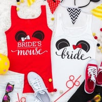 Cute Mouse Bachelorette Party Shirts - Bride | Mouse of Honor | Bride's Mouse