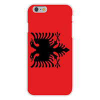 Apple iPhone 6 Custom Case White Plastic Snap On - Albania - World Country National Flags