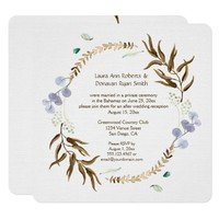 Rustic Botanicals Wreath Reception Only | Card