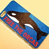 Orca Phone Case Stop Sea World, Free Tilikum Tilly iPhone 4 4s 5 5s 5c  6 6 Plus Samsung Android Phone cover  Dolphins BLACKFISH SeaWorld