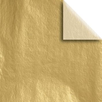 "Bulk Pack Metallic Gift Tissue Paper 20"" x 30"", Gold, 240 Sheets"