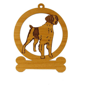 Brittany Spaniel 2 Ornament 081990 Personalized With Your Dog's Name