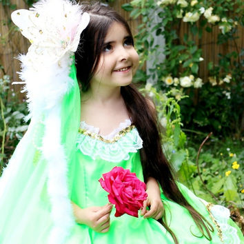 Woodland Fairy Costume, Tinkerbell Birthday Tutu Dress, Halloween Costume