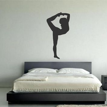 ik2227 Wall Decal Sticker Girl gymnast sports hall bedroom
