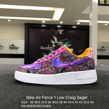 Nike Air Force 1 Low Craig Sager Purple AF1 Skateboarding Shoes