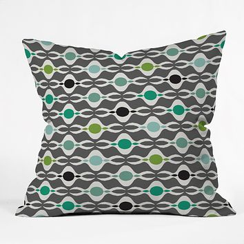 Karen Harris Coming Undone In Succulent Dark Throw Pillow