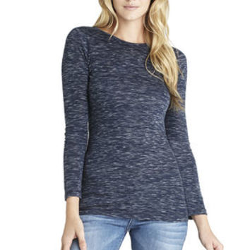 Long Sleeve Layering Top in Navy Blue - BCBGeneration