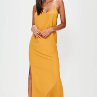 Missguided - Orange Cami Low Back Maxi Dress