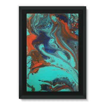 Framed Canvas Fire and Ice Abstract Acrylic painting ( SAVE THIS WEEK ONLY  UP TO 100.00 OFF)