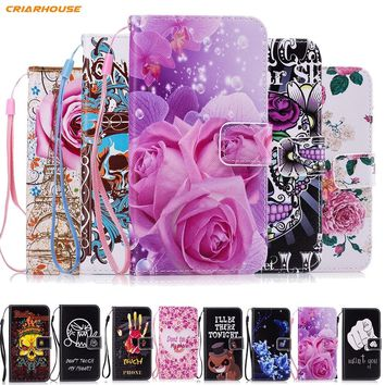 Leather phone Case for Samsung Galaxy J1 J3 J5 J7 2016 A3 A5 2017 A8 2018 Core Prime Grand G531 S6 S7 edge S9 S8 Plus Funda