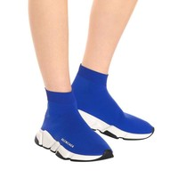shosouvenir  Balenciaga Blue Elastic Knitted socks sports shoes