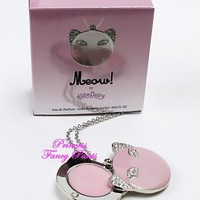 Katy Perry Meow Eau de Parfum EDP Solid Perfume Locket Bling Cat Necklace .05 oz