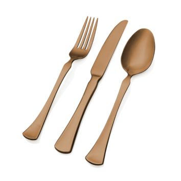 Refined Copper 20 Piece Flatware Set - Skandia