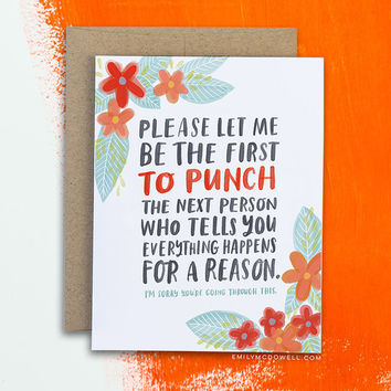 Everything Happens for a Reason Empathy Card