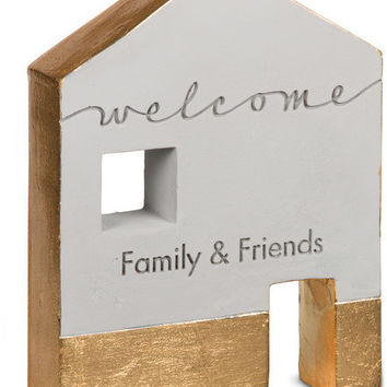 Welcome family & friends - Cement House Plaque