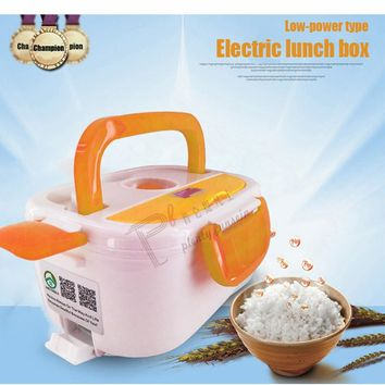 Cooking PTC electric heating lunch box  portable food-Grade Container Warmer Kids 4 Buckles Dinnerware heat  by 220/110VAC/12VDC
