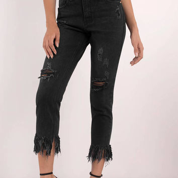 Francesca Frayed Denim Jeans