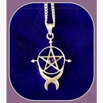 """Endless Pentagram"" Necklace"