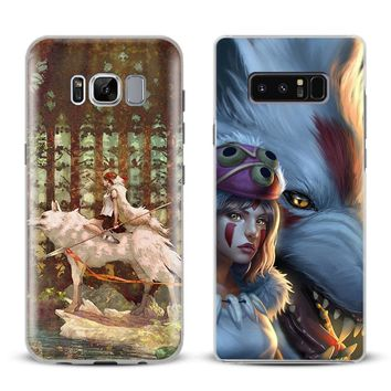 Princess Mononoke Anime Phone Case Cover Shell For Samsung Galaxy S4 S5 S6 S7 Edge S8 Plus Note 8 2 3 4 5 A5 A7 J5 2016 J7 2017