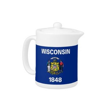 Wisconsin State Flag Teapot