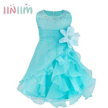 New Infant Baby Girl Wedding Dress Baptism Christening Gown Pageant Dress With Pearls Toddler Girls Princess Dress for 0-3 Years