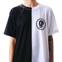 Long Clothing x Mishka Chain Two Tone Tee Black/White One