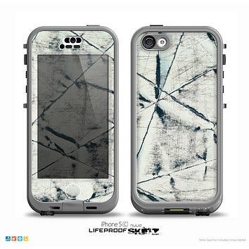 The White Cracked Woven Texture Skin for the iPhone 5c nüüd LifeProof Case
