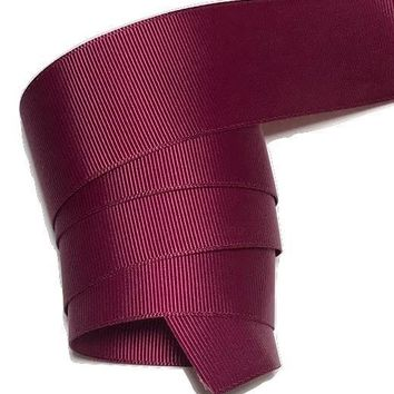 "Burgundy 1.5"" grosgrain ribbon"