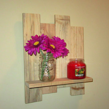 Reclaimed Unfinished wood shelf, pallet wood shelf, wall shelf, DIY Wood Shelf, Candle holder