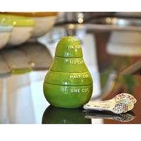 Green Pear Measuring Cup Set by Rae Dunn